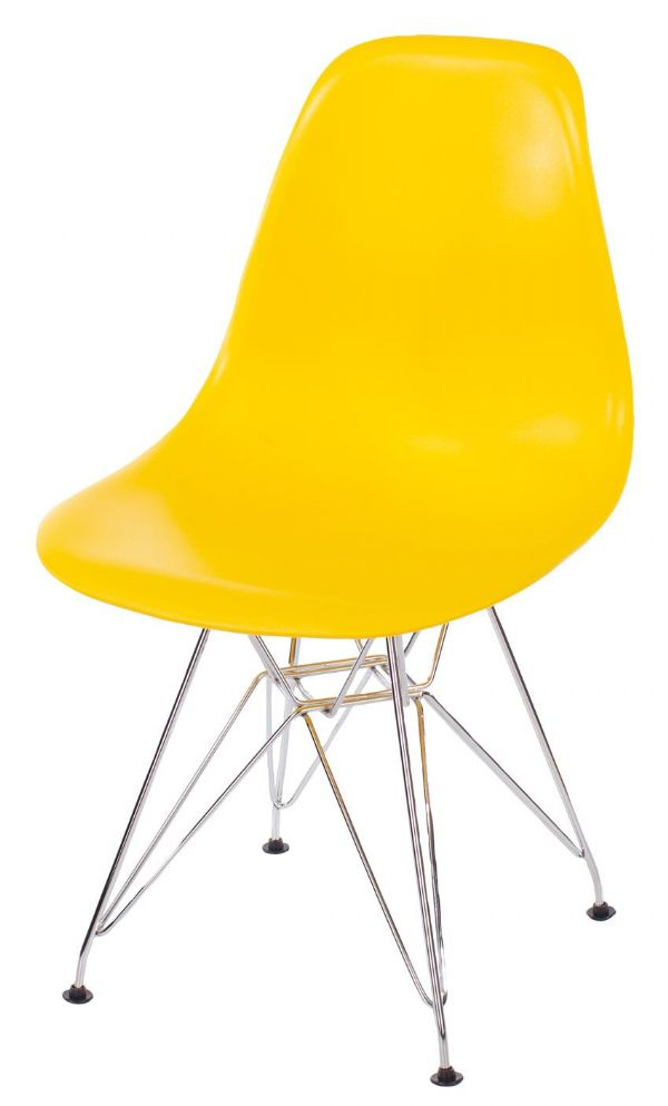 Pair of Aspen Chairs with Moulded Plastic Seats and Metal Legs